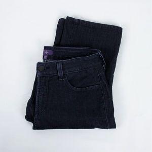 NYDJ Black Straight Leg Jeans Size 10 Short